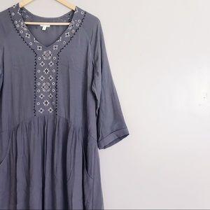 Garnet Hill • Boho Dress with Pockets